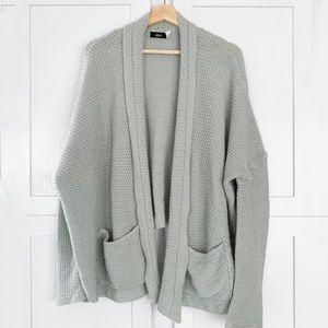 bag grandpa knit oversize cardigan